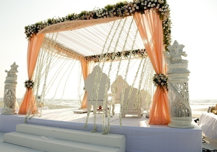 Indian wedding dcor themes that made us swoon blog grey white and orange junglespirit Image collections