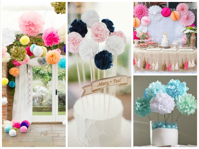 What's New in Wedding Decoration Ideas? Pom Poms!