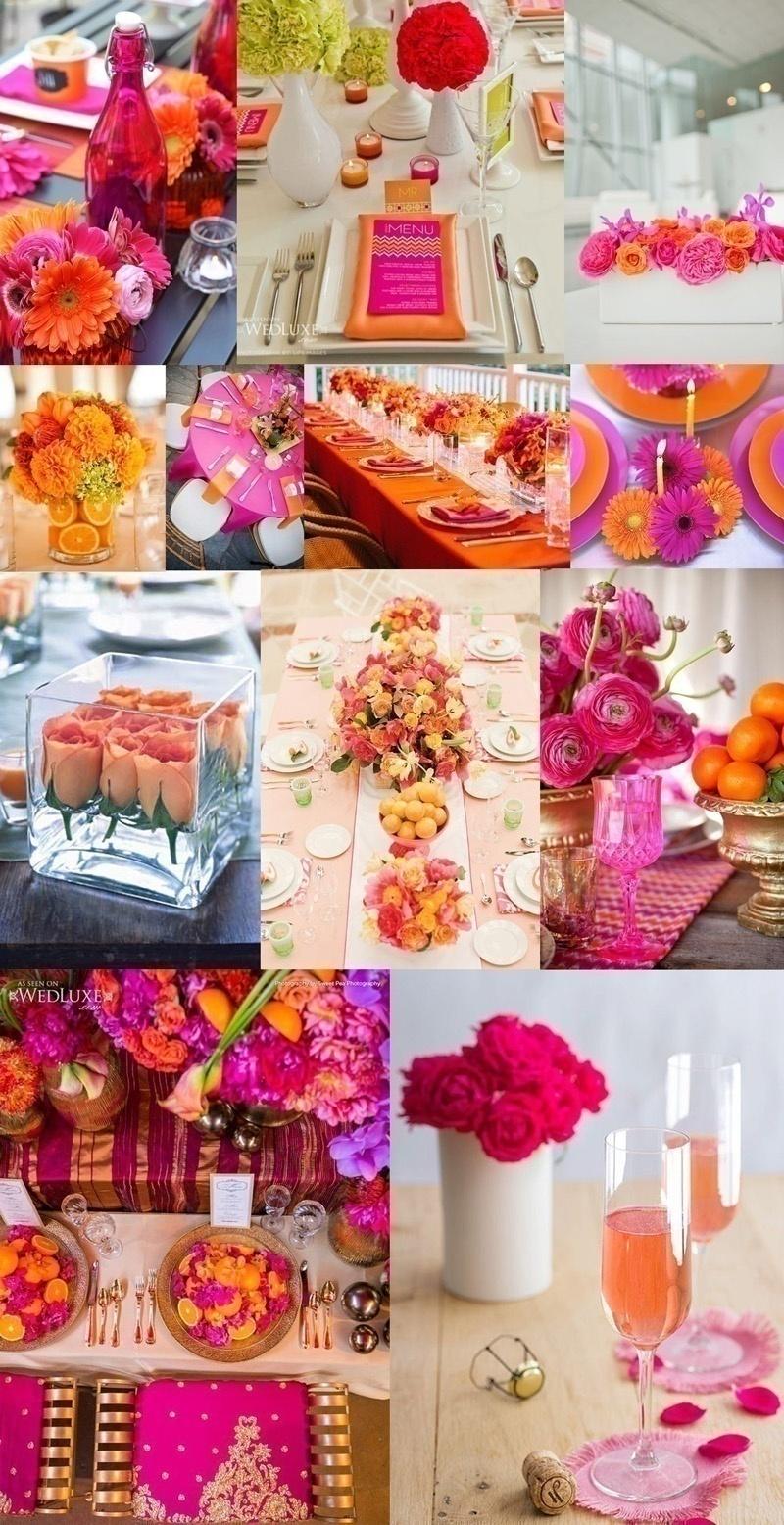 Fuchsia, Orange and Pink