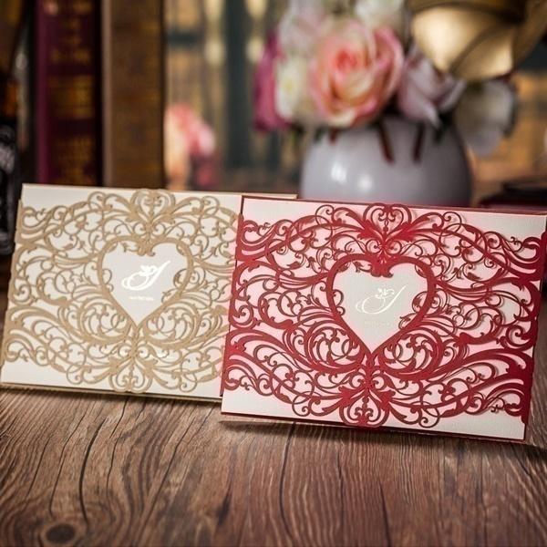 Laser Cut Wedding Invitation Covers