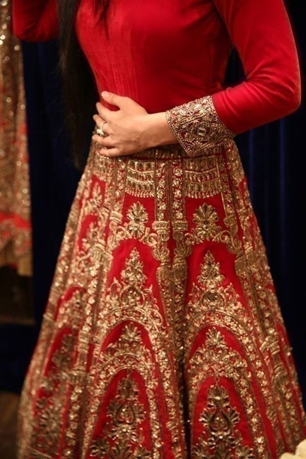 Red, White and Gold Bridal Wear