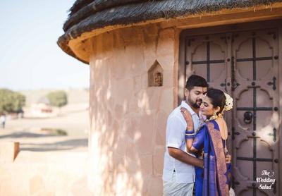 Karthik and Arushi at their wedding