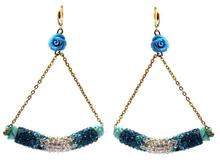 Boat shaped Dangling Earrings