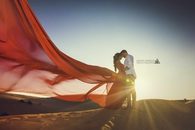 Pre Wedding shoot in the deserts of Dubai