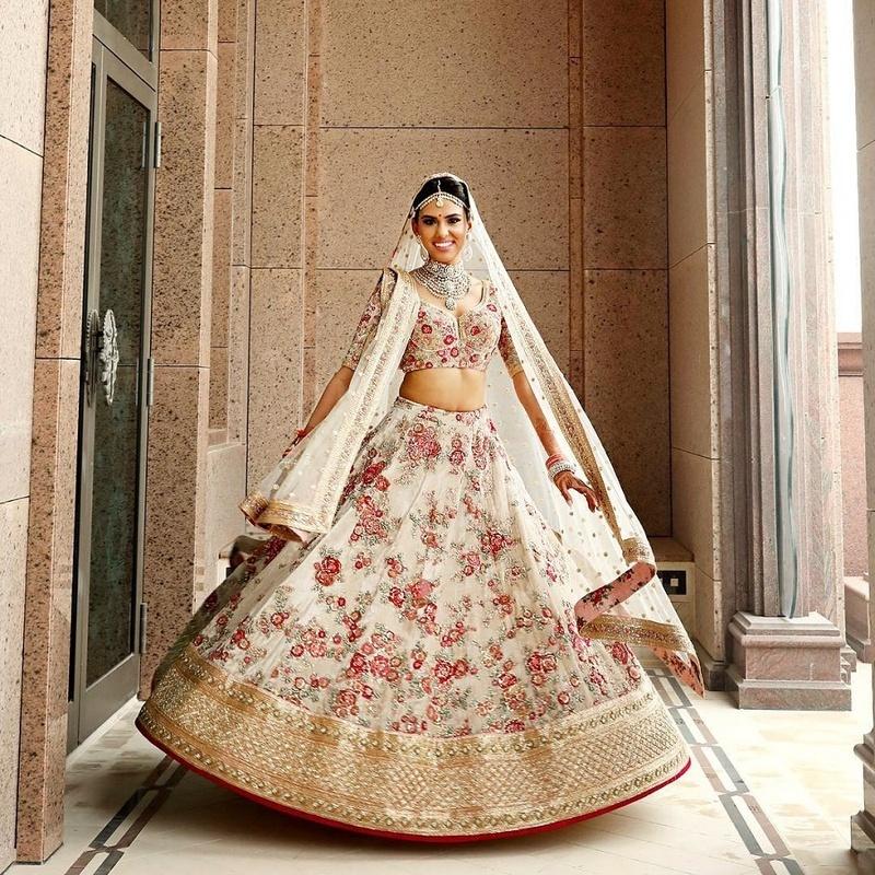 White Wedding Indian Dress: 15 Brides Who Wore A White Lehenga To Their Indian Wedding