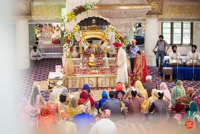 The pheras at the Gurudwara