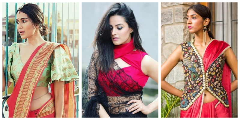 15 quirky blouse designs to wear with your designer saree at your BFF's wedding!