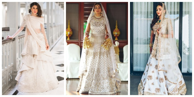 12 Prettiest White Lehenga options for the Contemporary Brides!