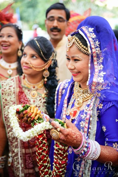 The jayamala ceremony