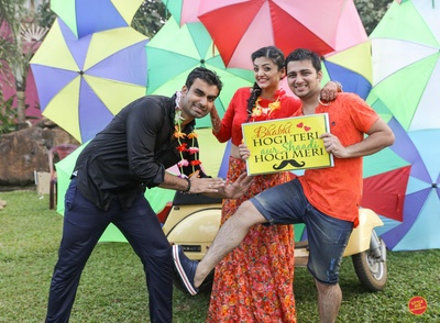 Funky thoughts and interesting props used in rain dance for the wedding function