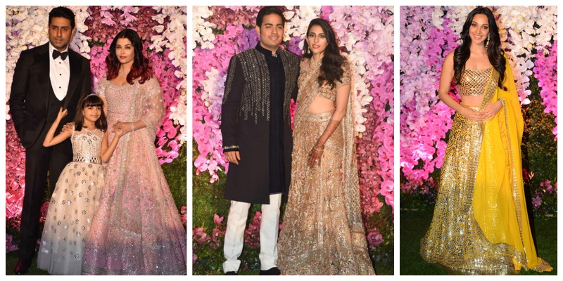 All the deets & pics from the star-studded reception of Akash Ambani and Shloka Mehta!