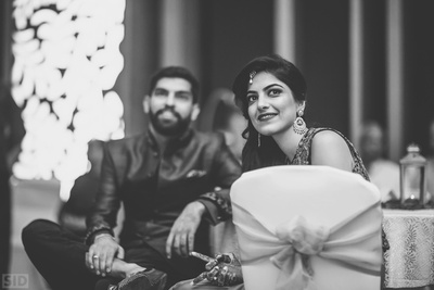 Neha and Ankur at their sangeet ceremony held at Vivanta by Taj, Bangalore.