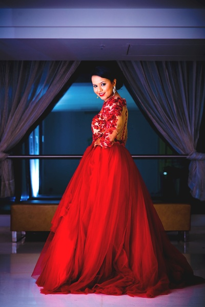 Classic designed floor length gown
