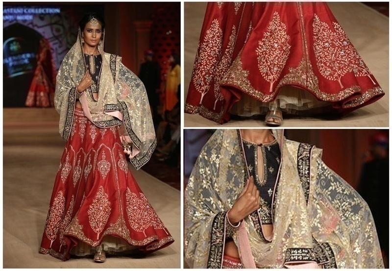 Modern Day Bridal Lehenga Choli Designs By Bollywood Fashion Designer Anju Modi Bridal Wear Wedding Blog