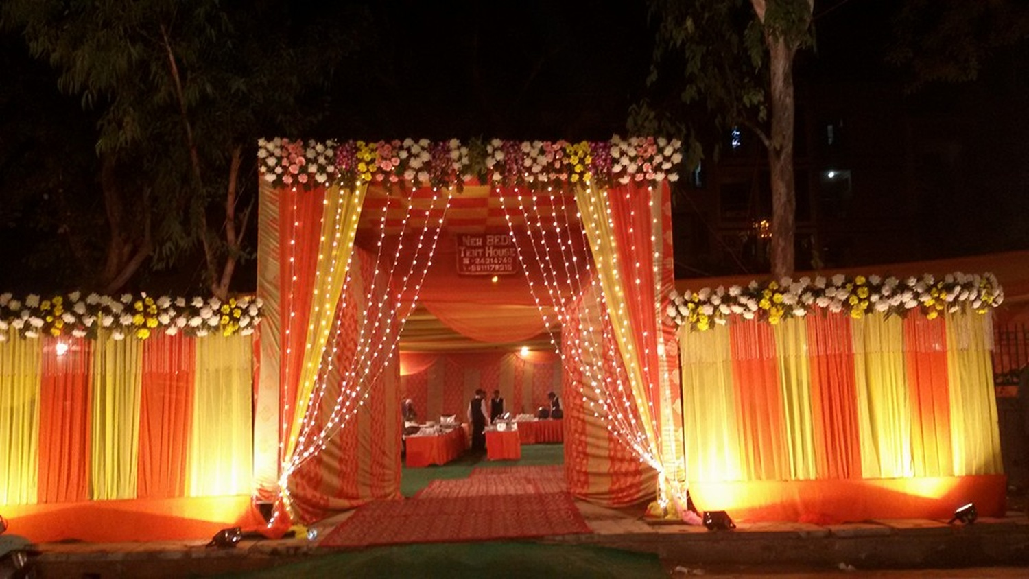 decorative lights for weddings bedi tent amp light house wedding decorator in delhi weddingz 3458