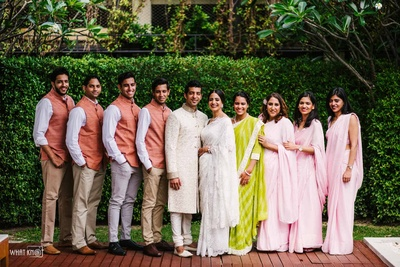 The bridesmaids and the Guy gang is all set for the D-day!