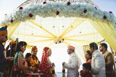 Ready for the varmala ceremony