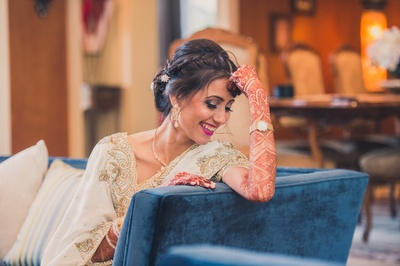 In love with this bride's million dollar smile!