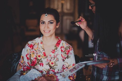 Bride Swati getting ready for the big day!