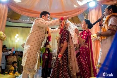 The beautiful ceremony of Jaimala