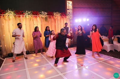 Performing his heart out on the Sangeet function, dressed in traditional attire