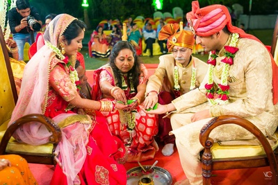 Ayush and Kruti's wedding ceremony