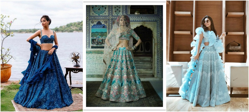 25 Bridal Lehenga Ideas in Shades of Blue for Contemporary Brides