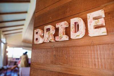 quirky bride related decor