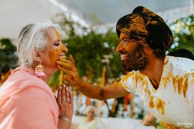 Sikh Groom Haldi