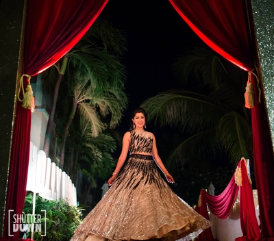 The bride twirling in her lehenga
