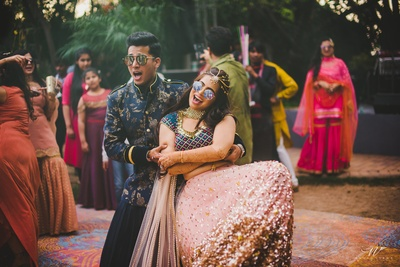 Bride and groom's dance performance at their mehndi function