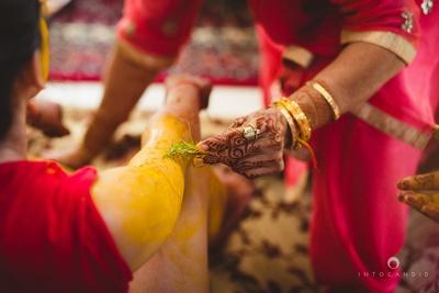 Haldi ceremony.