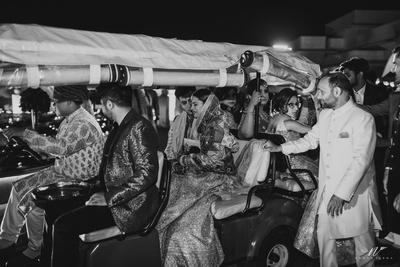 Bidaai ceremony of the bride after the wedding functions