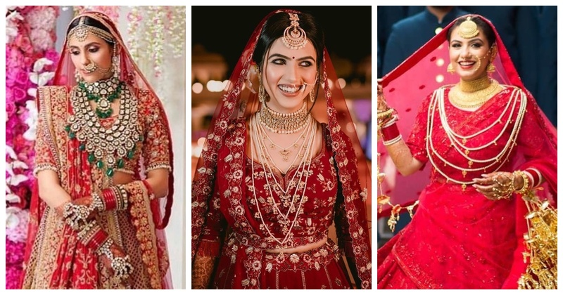 8 Brides Who Wore Stunning Jewelry with Their Red Lehenga