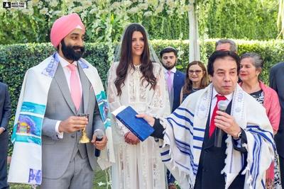 Jewish wedding ceremony.