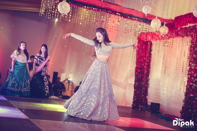 Sangeet ceremony performance by the bride