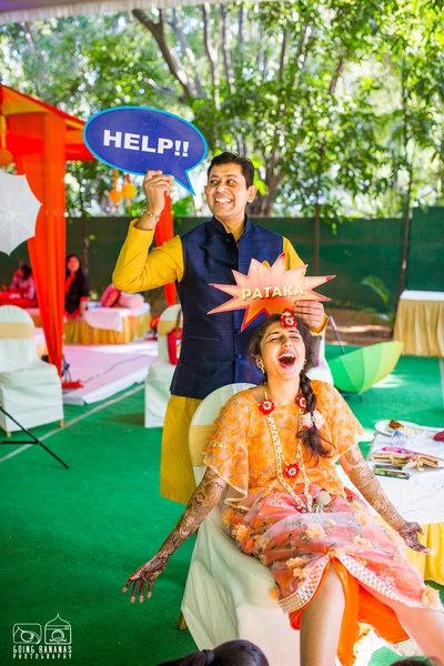 Quirky photo props and sign ideas for fun filled mehendi ceremony. Photo booth ideas for mehendi ceremony