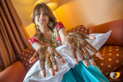 Intricate and detailed mehendi designs