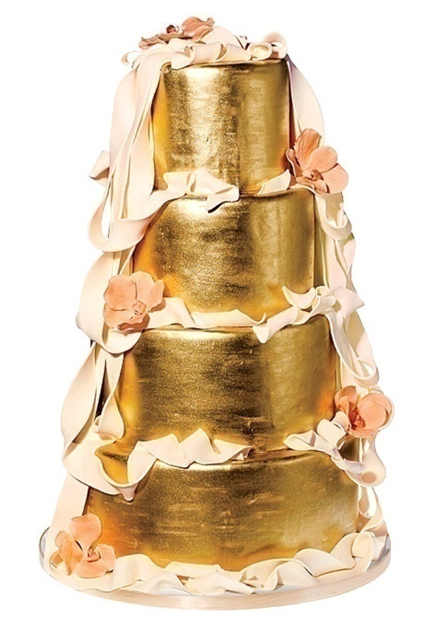 Shimmer and Shine: Metallic Wedding Cakes