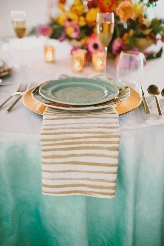 Watercolor Wedding Table Decoration