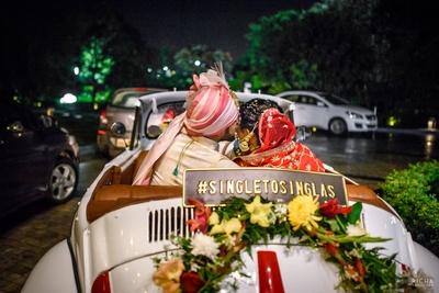 Bride and groom at their vidaai ceremony.