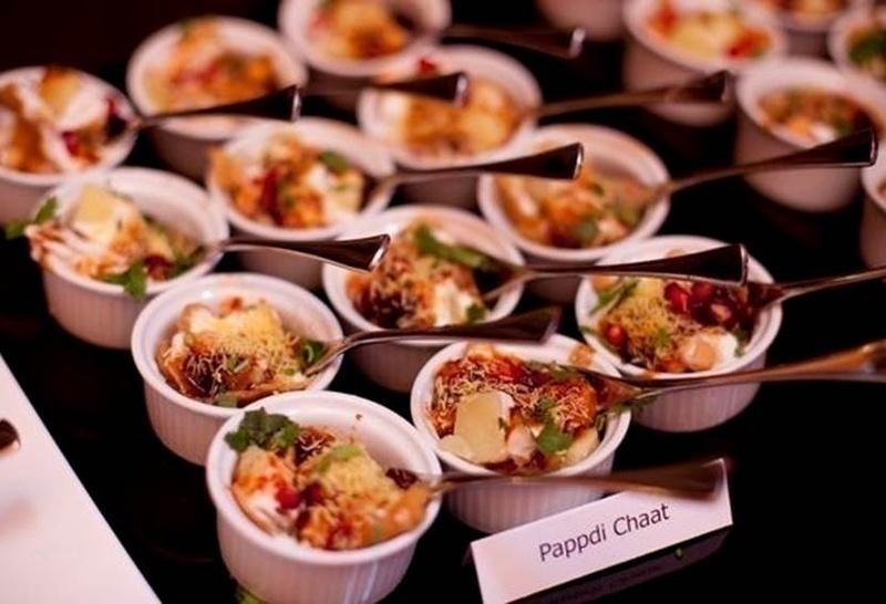 Wedding food bar idea: CHAAT COUNTER