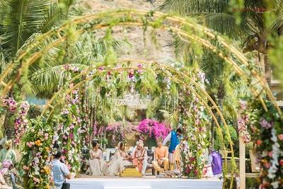 Beautiful floral mandap decor at Della Resorts, Lonavala