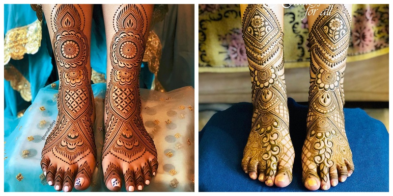 10 Attractive Leg and Feet Mehendi Designs