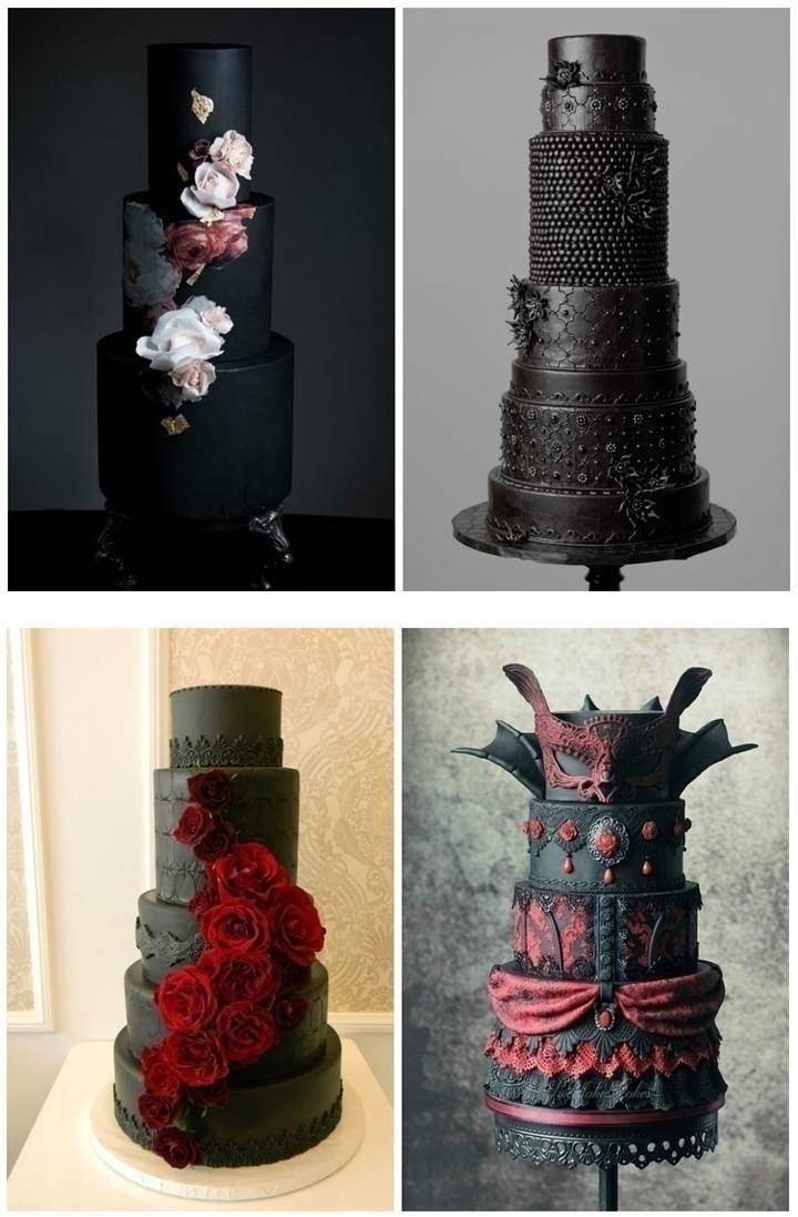 GOTHIC WEDDING CAKES AND CAKE TOPPERS