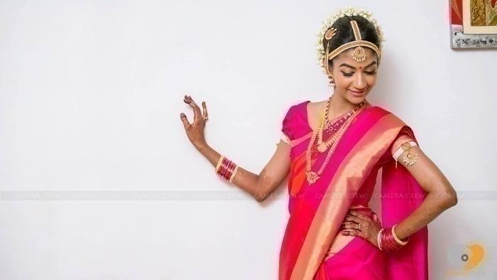 Classic Kempu and Gold Matha Patti