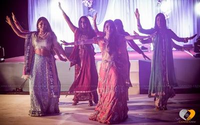 Pink and silver designer lehenga for pre wedding celebrations