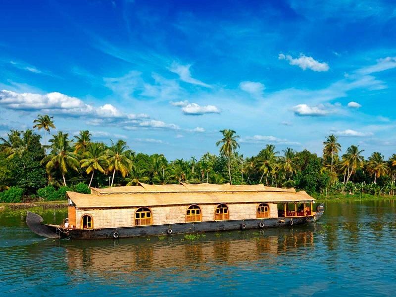 A House Boat in Allepey, Kerala