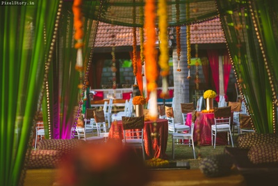 Sangeet ceremony decor ideas.