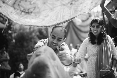 Haldi ceremony black and white photography.